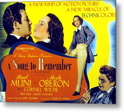 A Song To Remember, Cornel Wilde, Merle Metal Print by Everett