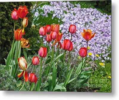 A Spring Feast Of Colours Metal Print
