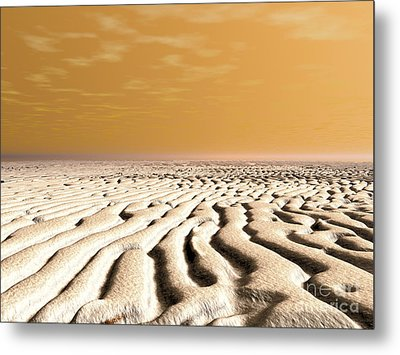 A Spring Sunrise Over The Surface Metal Print by Walter Myers