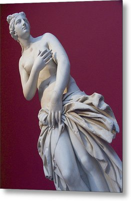 A Statue Of Aphrodite At The Acropolis Metal Print by Richard Nowitz