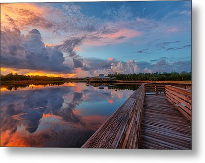 A Storm Is Brewing Metal Print by Claudia Domenig