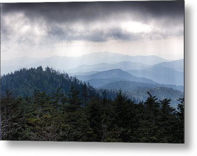A Storm Over The Smokys Metal Print by Pixel Perfect by Michael Moore