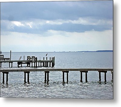 A Stormy Day On The Pamlico River Metal Print