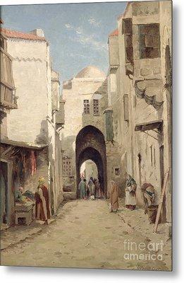 A Street In Jerusalem Metal Print by Percy Robert Craft
