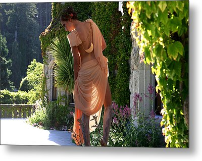 A Stroll On The Terrace Metal Print by Waywardimages Waywardimages