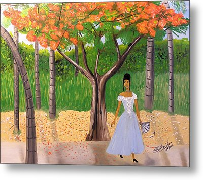 A Une Dame Creole Metal Print by Nicole Jean-Louis