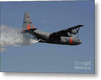 A U.s. Air Force C-130 Hercules Metal Print by Stocktrek Images