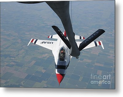 A U.s. Air Force Thunderbird Pilot Metal Print by Stocktrek Images