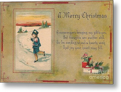 A Very Merry Christmas Metal Print by Angela Wright