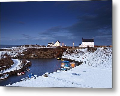 Metal Print featuring the photograph A Village On The Coast Seaton Sluice by John Short