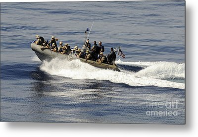 A Visit, Board, Search And Seizure Team Metal Print by Stocktrek Images