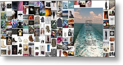 A Walk Down The Pier Metal Print by Holley Jacobs