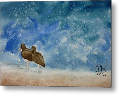 A Walk On The Beach Metal Print by Estephy Sabin Figueroa