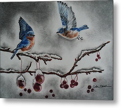 A Warm Winter Welcome Metal Print by Carla Carson