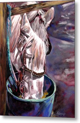 Metal Print featuring the painting A Whiter Shade Of Pale by Rae Andrews