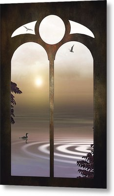 A Window To The Sunset Metal Print by Tom York Images
