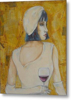 A Wine Tasting Evening Metal Print by MaryAnn Ceballos