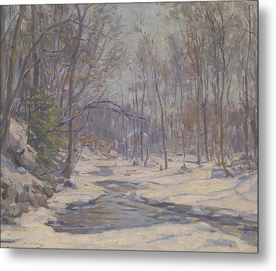 A Winter Morning  Metal Print by Frank Townsend Hutchens