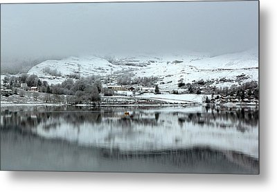 Metal Print featuring the photograph A Winter's Scene by Lynn Bolt