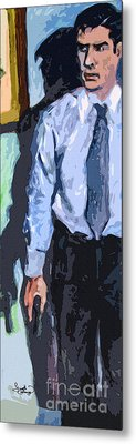 Aaron Hotchner Persuing The Reaper Metal Print by Ginette Callaway