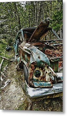 Abandon Car Metal Print by Greg Horler