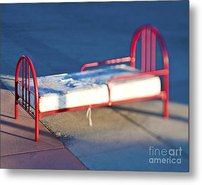 Abandoned Bed Metal Print by Eddy Joaquim