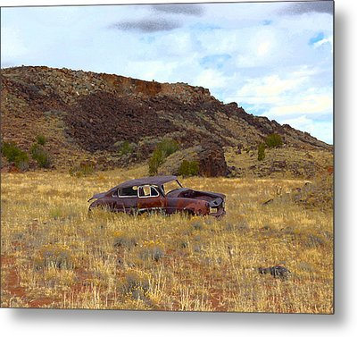 Metal Print featuring the photograph Abandoned Car by Steve McKinzie