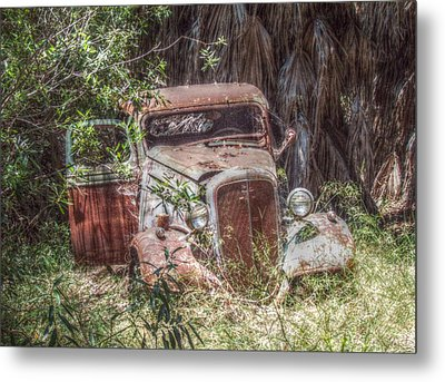 Abandoned Metal Print by Cindy Nunn