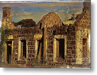 Metal Print featuring the digital art Abandoned Farmhouse by Blair Stuart