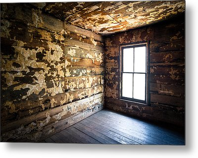 Abandoned Smoky Mountains Farm House - The Window Metal Print by Dave Allen