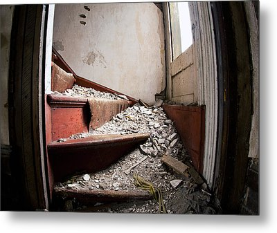 Abandoned Stairs Metal Print by Cale Best