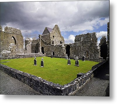Abbeyknockmoy, Cistercian Abbey Of Metal Print by The Irish Image Collection
