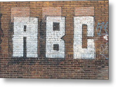 Abc On Wall Metal Print by Hans Engbers