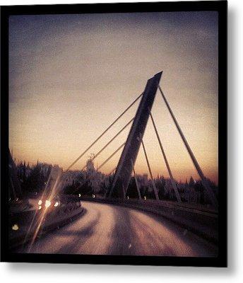 Abdoun Bridge, Jordan - Amman Metal Print by Abdelrahman Alawwad