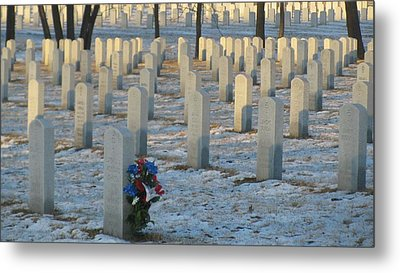 Abe Lincoln National Cemetary Metal Print by Todd Sherlock