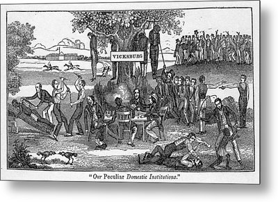 Abolitionist Cartoon Entitled, Our Metal Print by Everett