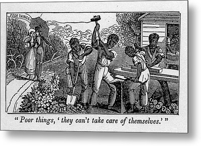 Abolitionist Cartoon Satirizing Slave Metal Print by Everett