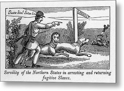 Abolitionist Political Cartoon Metal Print by Everett