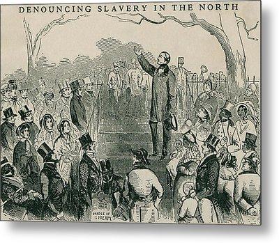 Abolitionist Wendell Phillips Speaking Metal Print by Everett