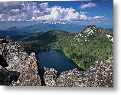 Above Castle Lake Metal Print by Greg Nyquist