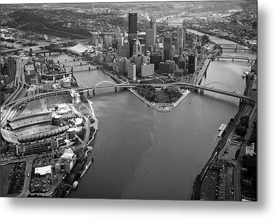 Above Pittsburgh  Metal Print by Emmanuel Panagiotakis