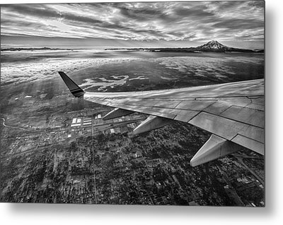 Above Seattle Metal Print by A A