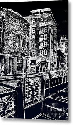 Metal Print featuring the photograph Above The River-walk by Joe Finney