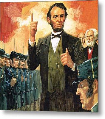 Abraham Lincoln Metal Print by English School