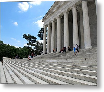 Abraham Lincoln Memorial Metal Print by Valia Bradshaw