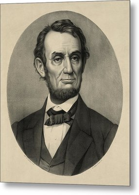 Metal Print featuring the photograph Abraham Lincoln Portrait by International  Images