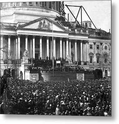 Metal Print featuring the photograph Abraham Lincolns First Inauguration - March 4 1861 by International  Images