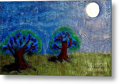 Metal Print featuring the painting Abres De La Lune by Ayasha Loya