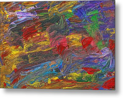 Abstract - Acrylic - Anger Joy Stability Metal Print by Mike Savad