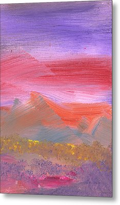 Abstract - Guash - Lovely Meadows 1 Of 2 Metal Print